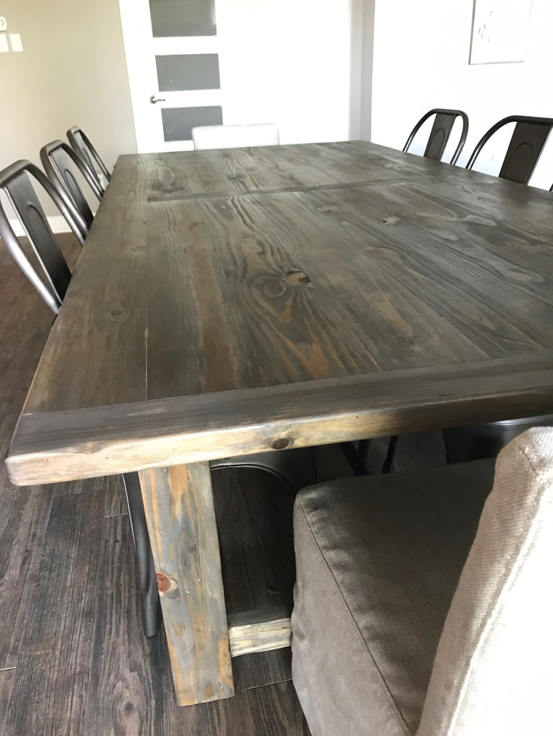 Distressed dining table - After Many Hours Of Stripping And Sanding This Is The New Finished Distressed Pine Dining Table The Finish Is A New Product That I Had Never Used Before